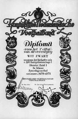 oorkonde kampioenschap Wit-Zwart