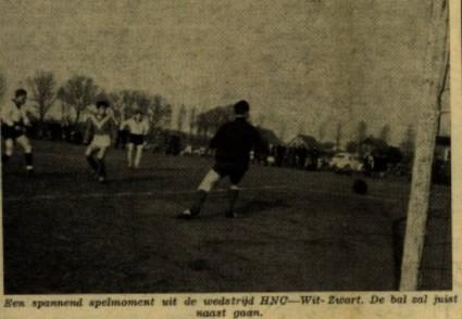 foto derby H.N.C. - Wit-Zwart