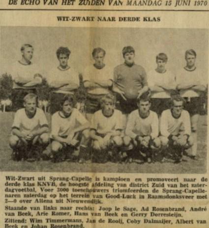 elftal Wit-Zwart 1970