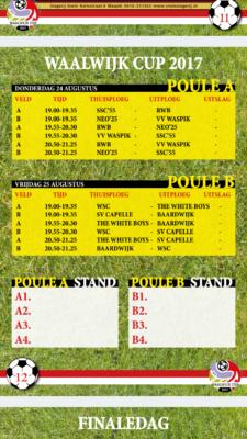 speelschema Waalwijk Cup 2017-1