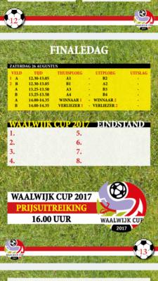 speelschema Waalwijk Cup 2017-2
